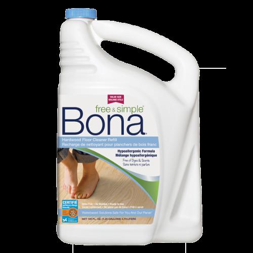 Bona Free Amp Simple 174 Hardwood Floor Cleaner Refill 4 73l