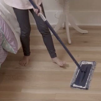 <p>Get the right cleaners for all types of wood floors at 0:45.</p><br/>