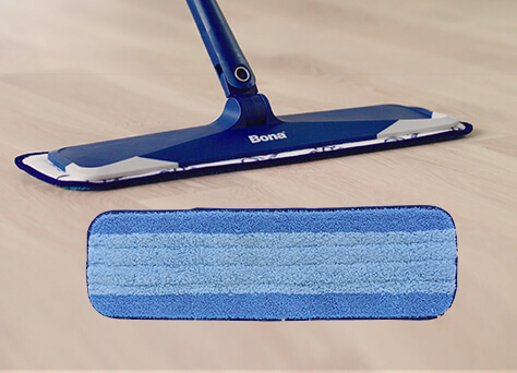 <p>Use your microfiber mop with a residue-free floor cleaner formulated for wood floors to get the grime you miss with daily dusting. A wet cleaning pad works wonders for faster clean up. Avoid the outdated, messy mop and bucket.</p><br/><br/><p>&nbsp;</p><br/>