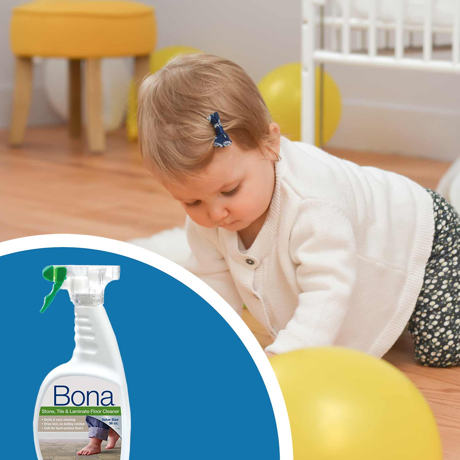 "<p><strong>The&nbsp;<a href=""https://us.bona.com/products/stl-cleaner-36oz.html"">Bona Stone, Tile & Laminate Cleaner&nbsp;</a>is an excellent choice for cleaning luxury vinyl flooring and other hard surface floors.&nbsp;</strong>Safe to use around pets and children, our floor cleaner dries fast and leaves no residue&mdash;the perfect choice when you don&rsquo;t want your floors to get in the way of your life!</p><br/>"