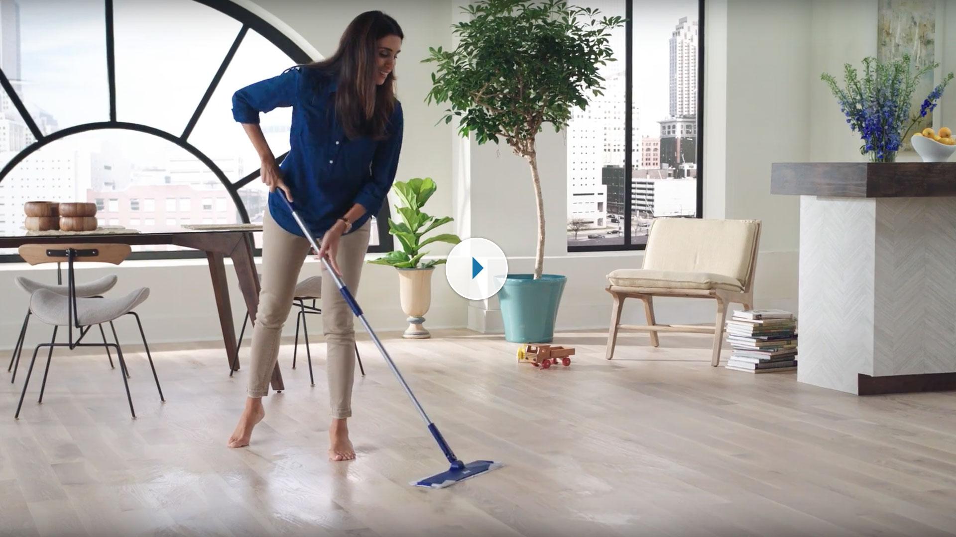 Quick Clean Wood Floors With Bona Wet Clean Pads Bona Ca