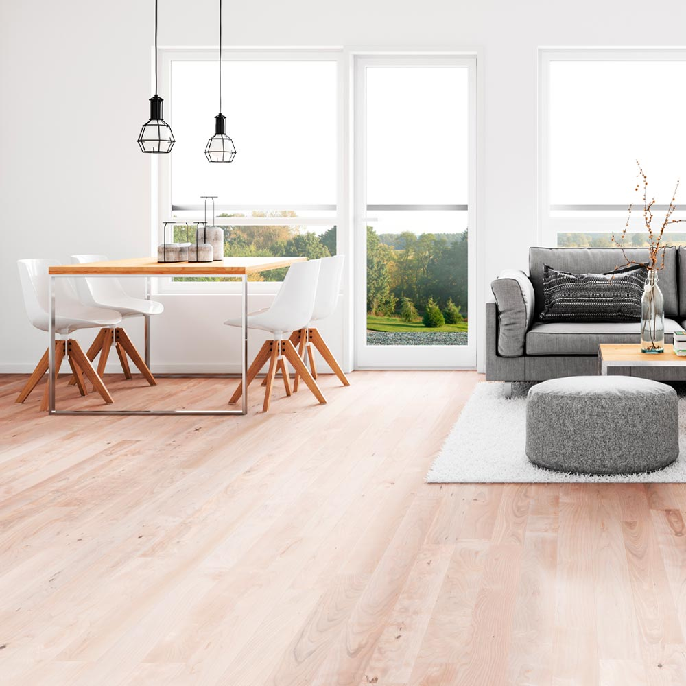 <p>Can mimic natural surfaces like wood and stone. Comes in planks, sheets or tiles to make installation easier. Can be installed over existing floors. Extremely durable, waterproof and low maintenance. Great budget-minded option.</p><br/>